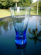 MARTELL 5.5 IN.TALL- FAIR CONDITION GLASS  LOW CLEARANCE PRICE BLUE BOTTOM