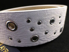 Fab Playboy Unisex Riveted & Studded Belt - White or Black - Priced to Clear New