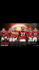 Georgia Bulldogs Football 2016 Team Schedule poster Nick Chubb Jacob Eason