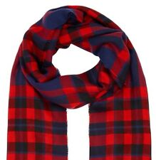 MONSOON ACCESSORIZE CHECK SCARLET SCARF  SHAWLS NEW!
