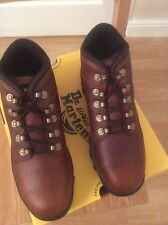 DR MARTENS BOOTS TEAK LEATHER STEEL TOE CAP  BOOTS SIZE 9 NEW AND BOXED