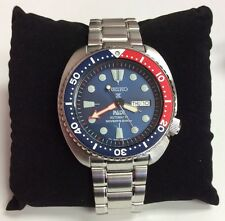 SEIKO Men's PROSPEX Automatic Turtle PADI Divers 200M Limited Pepsi WATCH SRPA21