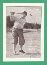 COLLECTABLE-CARDS.COM  -  REPRO GOLF CARD - BOBBY  JONES  OF THE U.S.A. OF  1932