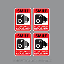 SKU2301 - Set Of Four In Car Camera Recording Car Sign Sticker - CCTV - Dashcam