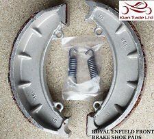 "MOTORCYCLE ROYAL ENFIELD BULLET SPARE PART FRONT BRAKE SHOE PAIR PADS 7"" #143971"