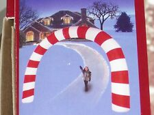 RARE Giant 15' Gemmy Lighted Candy Cane Archway Christmas Airblown Inflatable