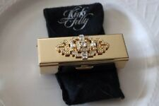 Compact Mirrored Bolster Lipstick Case Kirks Folly Elaborate Rhinestone Accent