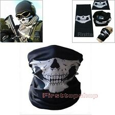 10PC Halloween Props Half Face Bandana Skeleton Ghost Skull Face Mask Balaclava