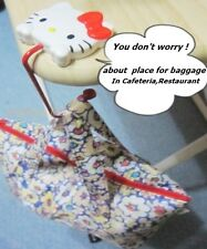 Hello kitty baggage table HANGER portable wire  with red bead hook,non-slip mat