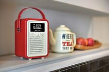 VQ Retro Mini DAB+ Radio & Bluetooth Speaker - RED
