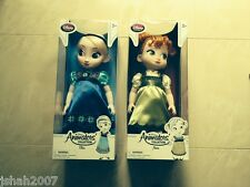 Official Disney Store Frozen Elsa & Anna Animators Toddler Dolls NEW *LOOK*