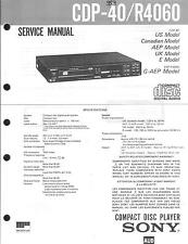 Sony Original Service Manual für CDP-40 / R 4060