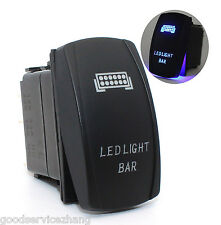 12V 20A Laser Push Button Rocker Toggle Switch BlueLED Bar Light Car Auto On-Off