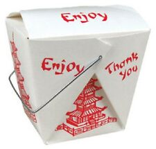 Pack of 50 Pint PAGODA Chinese Take Out Box / 16 oz Asian Food Container