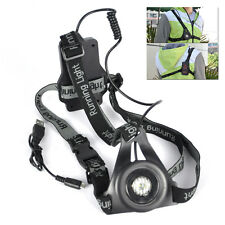 3-Mode XPE LED Rechargeable Headlamp Hiking Headlight Running Torch Warning Lamp