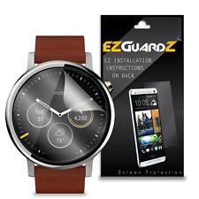 4X EZguardz Screen Protector HD 4X For Motorola Moto 360 2nd Gen 46mm Smartwatch