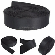 "1"" Inch 10 Yards Wide Black Nylon Heavy Webbing Strap Thick Knapsack Belt 10M"