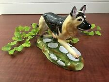 VTG ROYALE STRATFORD STAFFORDSHIRE PORCELAIN German Shepard Dog Figurine