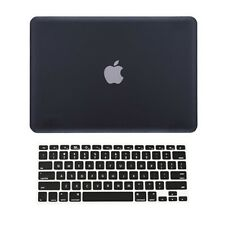 "2 in 1 BLACK Rubberized Hard Case for Macbook Pro 13"" A1425 Retina display +Key"