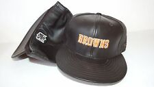 NEW HAT CAP FITTED REEBOK NFL CLEVELAND BROWNS SIZE 7 1/4 LEATHER BROWN