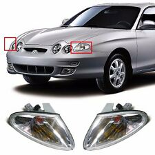 Front Turn Signal Lights Lamp Clear Set for OEM Parts Hyundai 1999-2001 Tiburon