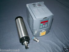 WATER-COOLED 65MM 1.5KW ER11 COLLET 220V CNC SPINDLE MOTOR+MATCHING INVERTER VFD