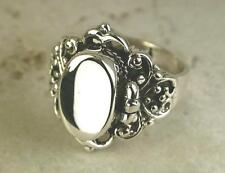 STUNNING .925 STERLING SILVER GOTHIC POISON RING size 9  style# r0658