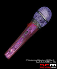 SQ335VL CPK UNIDIRECTIONAL MICROPHONE PURPLE XLR to JACK MIC LEAD INC BRAND NEW