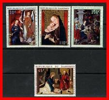 DAHOMEY 1971 CHRISTMAS PAINTINGS SC#C109-12 MNH (E15)