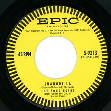 """THE FOUR COINS 45:  """"Shangri-La / First In Line""""  1957  Epic 5-9213  VG"""