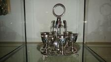 Fine Antique Daniel & Arter Ornate Silver Plated 6 Place Egg Cup Stand C 1860+