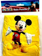 Disney Youth Kid Kids Mickey Mouse Yellow Rain Poncho Raincoat Keep Dry