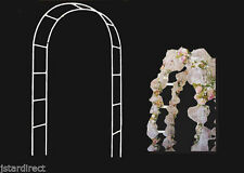 """Metal Garden Arch for Wedding Prom In & Outdoor Decorative 7.5 feet / 90"""" 2 Pcs"""
