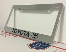 Chrome TOYOTA Personalized Custom  License Plate Frame tag holder GIFT PRESENT