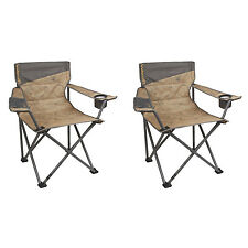 Coleman Oversized Big-n-Tall Quad Camping Chairs (2 Pack) | 2 x 2000023590