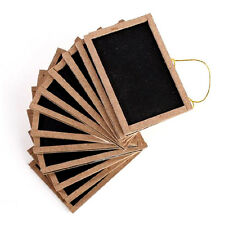 """12 Mini Small Chalkboards 2"""" X 3"""" For Wedding Place Cards Party Favors & Crafts"""