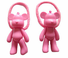PINK BEAR HAIR BOBBLE BAND KAWAII EMO PUNK CUTE JAPAN