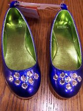 NEW NWT GYMBOREE BLUE GEM HOLIDAY BALLET SHOES SZ 9 Free US Shipping