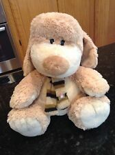 Ming Ren Plush Dog Puppy Tan Scarf Mingren Stuffed Animal Soft Toy