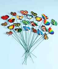 24 Garden Stake Butterfly Yard Metal Decor Art Outdoor Home Lawn Color Patio Nib