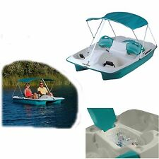 Covered Paddle Boat Pedal 5 Person Adjustable Seats For Lake Boating NEW
