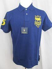 NWT Men's Polo Ralph Lauren Blue Short Sleeve Mesh Shirt 1967 Challenge Cup XL