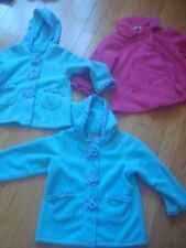 Lot of 3 EUC girls fleece jackets size 5-6 years - adorable !