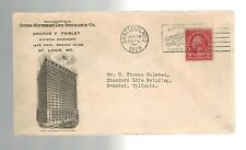 1929 Saint Louis Missouri USA Life Insurance Commericial Illustrated Cover