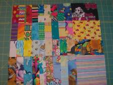 "40 - 4 1/2"" cotton fabric squares, brights and kids as seen in the pic SQ1612"