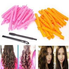 50CM Hair Curler Magic Spiral Ringlets Stretched Circle Roller Pack of 40 Lot US