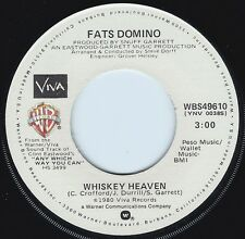 FATS DOMINO Whiskey Heaven ((**BRAND NEW 45**)) from 1980 Clint Eastwood MOVIE