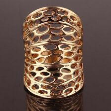 Wholesale Woman Man 14k Gold Filled US size 9 Hollow out Ring Jewelry C129