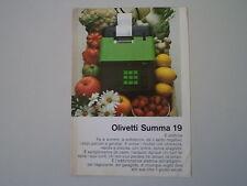 advertising Pubblicità 1970 OLIVETTI SUMMA 19