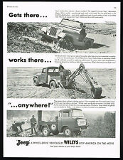 1957 Jeep Universal Truck With Backhoe FC-150 Anywhere Vintage Photo Print Ad